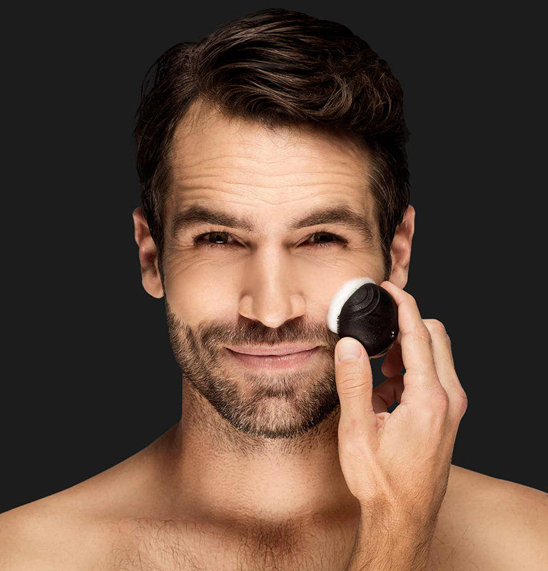 foreo luna go for men compact sonic cleansing system