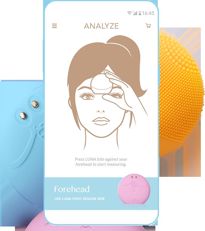 FOREO LUNA fofo | Smart Cleansing Massager & Skin Analyzer