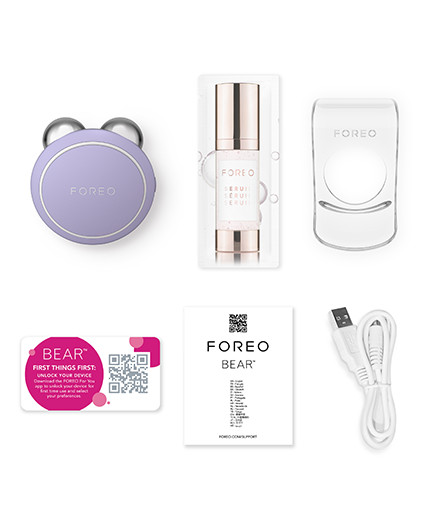 FOREO BEAR mini Lavender Package Content