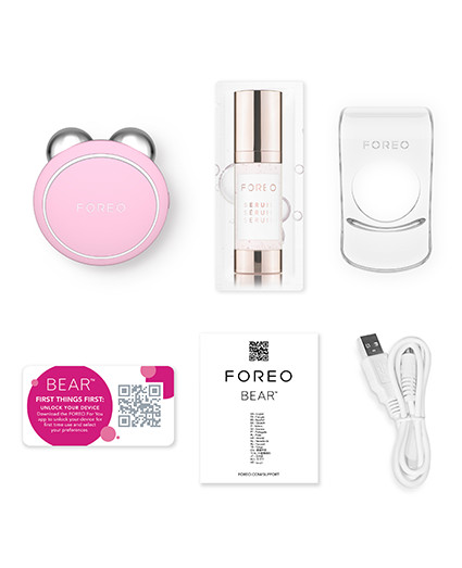 FOREO BEAR mini Pearl Pink Package Content