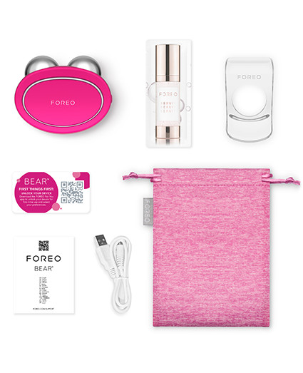 FOREO BEAR Fuchsia Package Content